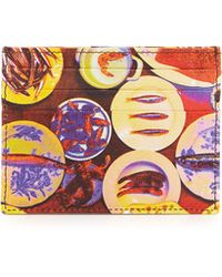 Etro Plate Printed Leather Card Case - Lyst