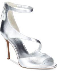 Nine West Festivitie High Heel Evening Sandals - Lyst