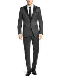 Hugo Boss 'Hanford/Golden' | Slim Fit, Virgin Wool Blend Tuxedo With Silk Trim - Lyst
