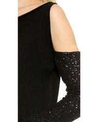 Donna Karan New York Cashmere Slash Shoulder Top  Black - Lyst
