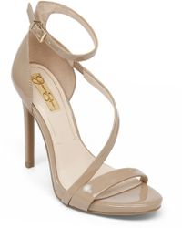 Jessica Simpson Asymmetrical Strape Heels - Lyst