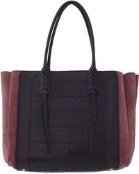 Lanvin Ostrich Effect Shopper purple - Lyst