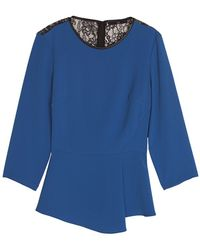Tibi Arden Crepe Lace Top - Lyst