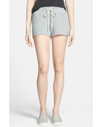 James Perse Heathered Fleece Shorts - Lyst