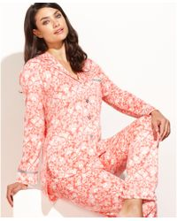 Ellen Tracy Holiday Fleece Top and Pajama Pants Set - Lyst