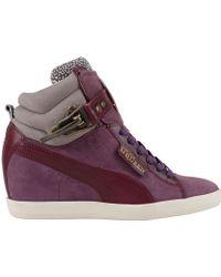 Alexander McQueen x Puma Joustesse Mid Wedge purple - Lyst