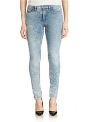 Guess Acid Wash Skinny Jeans - Lyst