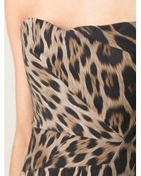 Roberto Cavalli Leopard Print Bandeau Top - Lyst