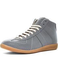 Maison Martin Margiela Snakeskin Embossed Reflective Sneakers - Lyst