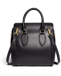 Alexander McQueen 'Heroine' Small Leather Tote - Lyst