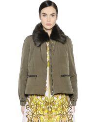 Giamba - Faux Fur & Padded Taffeta Jacket - Lyst