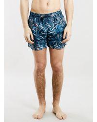 Topman Forest Print Swim Shorts - Lyst