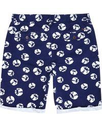 River Island Navy Tie Dye Spot Print Chino Shorts - Lyst