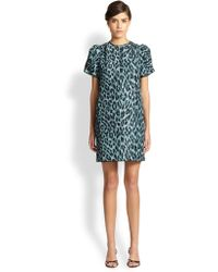 Marc Jacobs Silk Leopard-Print Dress - Lyst