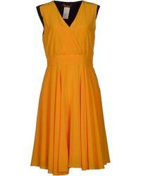 Max Mara Studio Orange Kneelength Dress - Lyst