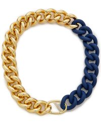 Elizabeth And James Bau Necklace - Gold/Blue - Lyst