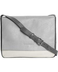 Lacambra Grey Leather Satchel - Lyst