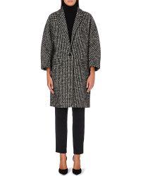 Max Mara Leva Checked Wool Blend Coat - Lyst