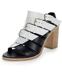 Balenciaga | Belted Leather Mule Sandals | Lyst