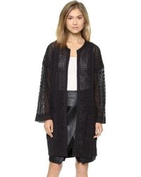 Catherine Malandrino Glenda Long Lace Coat - Lyst