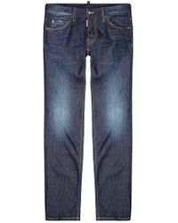 DSquared² Dean Distressed Straight Leg Jeans - Lyst