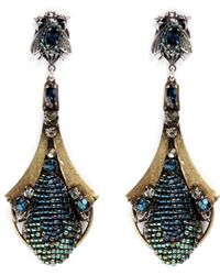 Miriam Haskell Crystal Insect Drop Earrings multicolor - Lyst