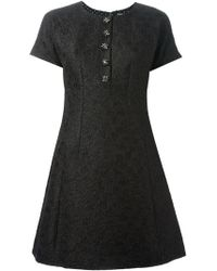 Dolce & Gabbana Embroidered Floral Dress - Lyst
