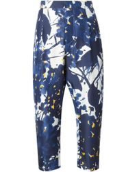 Marni Flower Print Trousers - Lyst