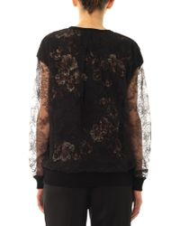 Jason Wu - Lace-overlay Silk Sweatshirt - Lyst