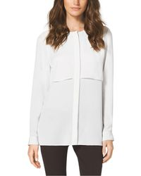 Michael Kors Layered Silk Blouse - Lyst