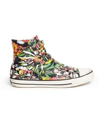 Ash 'Virgin' Floral Print Leather High Top Sneakers - Lyst