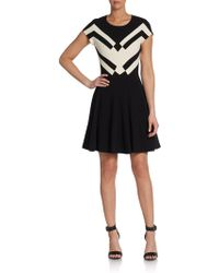Diane Von Furstenberg Gail Geoprint Fit Flare Dress - Lyst