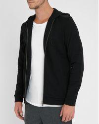 Calvin Klein   Black Nylon Hooded Zipped Sweatshirt   Lyst