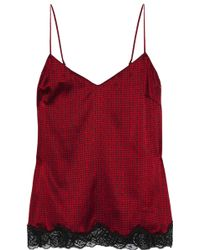 Stella McCartney Ellie Leaping Printed Stretch-Silk Camisole - Lyst