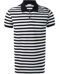 Saint Laurent Striped Polo Shirt - Lyst