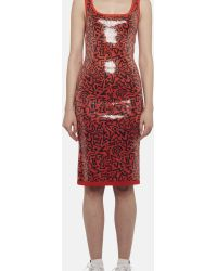 Sibling - All Over Sequin Print Vest Dress - Lyst