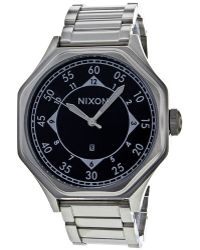Nixon Mens Black Dial Stainless Steel - Lyst