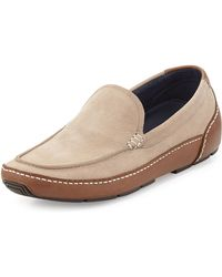 Cole Haan Air Mitchell Contrast Leather Driver Ginger Snap - Lyst
