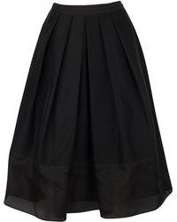 Tibi Techno Faille Pleated Skirt black - Lyst