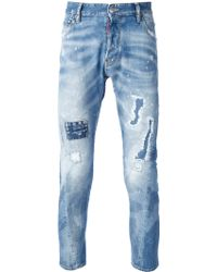 DSquared2 Distressed Skinny Jeans - Lyst