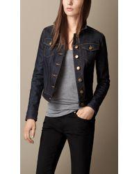 Burberry Japanese Stretch Selvedge Denim Jacket - Lyst