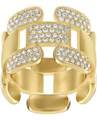 Swarovski - Crystal Cube Ring - Lyst