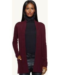 Ralph Lauren Black Label Cashmere Open-front Cardigan - Lyst