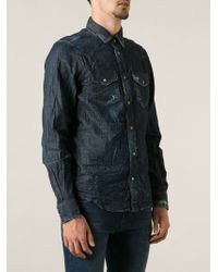 Diesel Blue Newsonora Shirt - Lyst