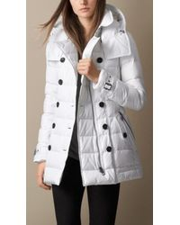Burberry Down-filled Coat with Detachable Hood - Lyst