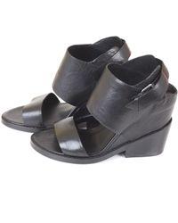 Ash Leather-Sandals black - Lyst