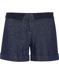 Maison Margiela Blue Denim Shorts - Lyst