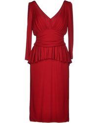 Alexander McQueen Knee-Length Dress - Lyst