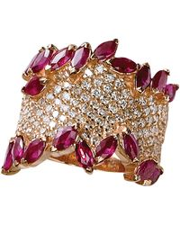 Effy - Diamond And Ruby 14k Rose Gold Ring, 1.41 Tcw - Lyst