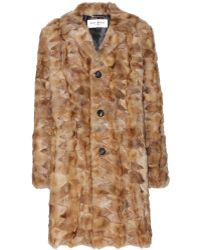Saint Laurent Fur Coat - Lyst